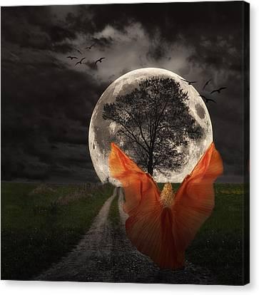 Moon Goddess Canvas Print by Tom Mc Nemar