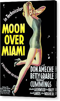 Moon Over Miami, Betty Grable, 1941 Canvas Print by Everett
