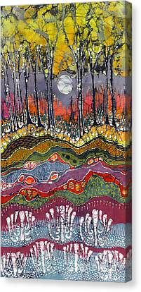 Moonlight Over Spring Canvas Print by Carol  Law Conklin
