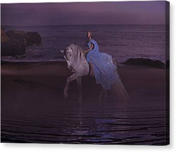 Moonlight Paradise Canvas Print by Betsy Knapp