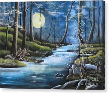Moonlight Serenade Canvas Print by RJ McNall