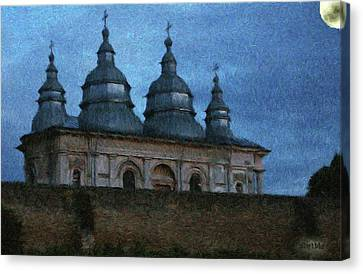 Moonlit Monastery Canvas Print by Jeff Kolker