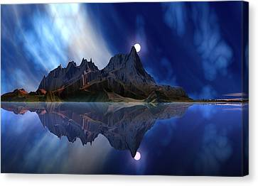 Moonrise Accension Island. Canvas Print by David Jackson
