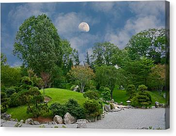 Moonrise Meditation Canvas Print by Charles Warren