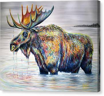 Moose Island Canvas Print by Teshia Art