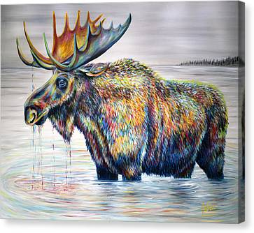 Moose Island Canvas Print by Teshia Art