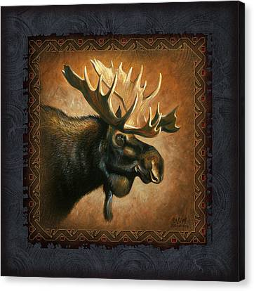 Moose Lodge Canvas Print by JQ Licensing