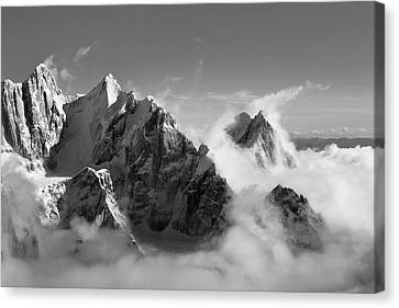 Moose's Tooth Canvas Print by Bob Faucher