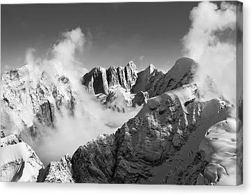 Moose's Tooth Massif Canvas Print by Bob Faucher