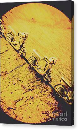 Moped Parking Lot Canvas Print by Jorgo Photography - Wall Art Gallery