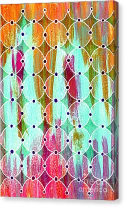 Moroccan Circles Canvas Print by Desiree Paquette