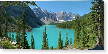 Moraine Lake Canvas Print by Dave Belcher