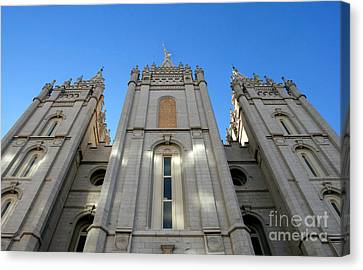 Mormon Temple Canvas Print by David Lee Thompson