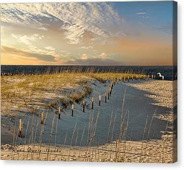 Morning At The Beach Canvas Print by Wynn Davis-Shanks
