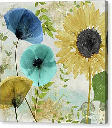 Morning Blue II Canvas Print by Mindy Sommers