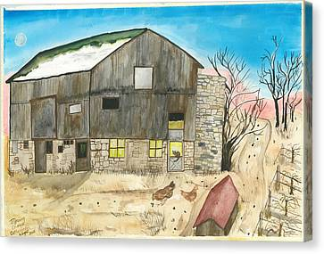 Morning Chores Canvas Print by Catherine Wight