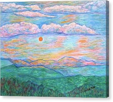 Morning Color Dance Canvas Print by Kendall Kessler