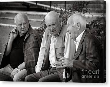 Morning Discussion Canvas Print by Jim  Calarese