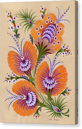 Morning Flowers Canvas Print by Olena Kulyk