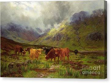Morning Mists Canvas Print by Louis Bosworth Hurt