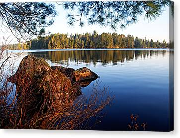 Morning On Chad Lake 2 Canvas Print by Larry Ricker