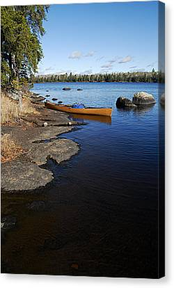 Morning On Hope Lake Canvas Print by Larry Ricker
