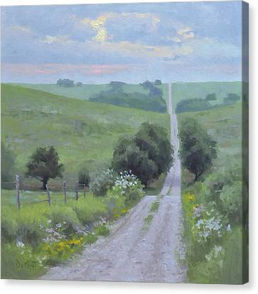 Morning Rush Hour Canvas Print by Larry DeGraff
