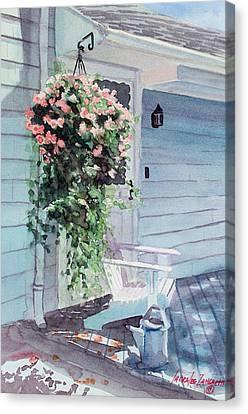 Morning Shadows Canvas Print by Laura Lee Zanghetti