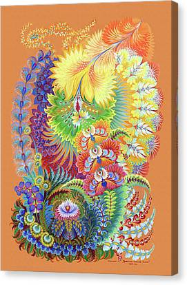 Morning Sunny Wave Canvas Print by Olena Kulyk