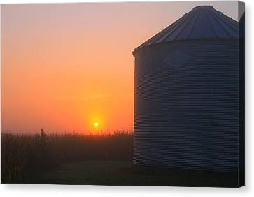 Morning Sunrise On The Farm Canvas Print by Dan Sproul