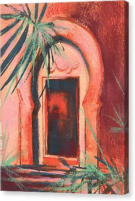 Morocan Doorway Canvas Print by Alison Fennell
