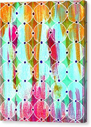 Moroccan Circles 2 Canvas Print by Desiree Paquette