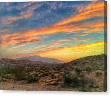 Morongo Valley Sunset Canvas Print by Snake Jagger