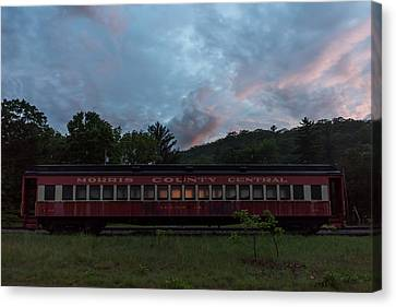 Morris County Central Railroad Passenger Car  Canvas Print by Terry DeLuco