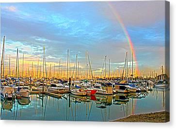 Morton Bay Rainbow Canvas Print by Susan Vineyard