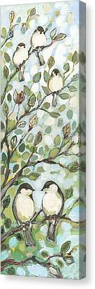 Mo's Chickadees Canvas Print by Jennifer Lommers