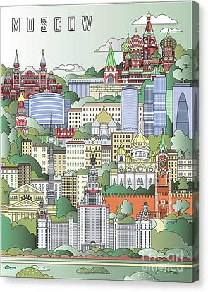 Moscow City Poster Canvas Print by Pablo Romero