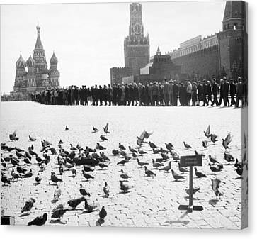 Moscow: Red Square, 1958 Canvas Print by Granger