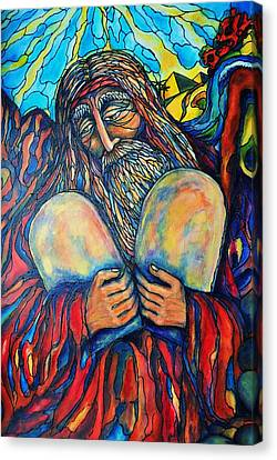 Moses Canvas Print by Rae Chichilnitsky
