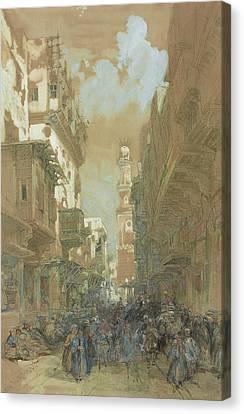 Mosque El Mooristan In Cairo Canvas Print by David Roberts