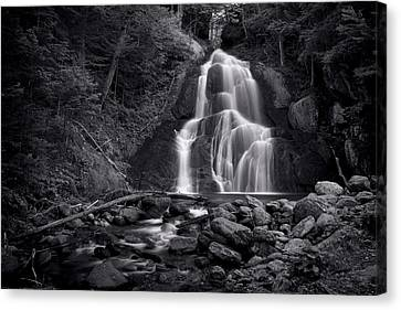 Moss Glen Falls - Monochrome Canvas Print by Stephen Stookey