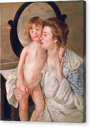 Mother And Boy Canvas Print by Mary Stevenson Cassatt