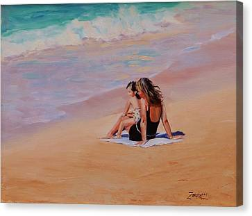 Mother And Child Canvas Print by Laura Lee Zanghetti