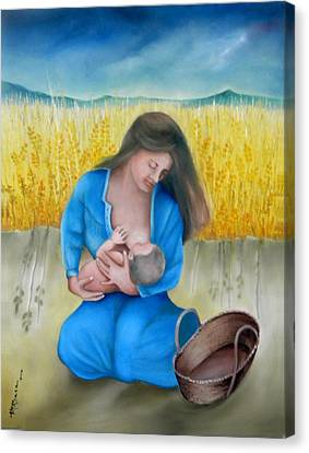 Mother And Child Canvas Print by Miriam Besa