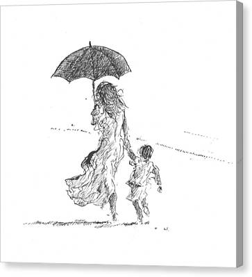 Mother And Child  Sri Lanka Canvas Print by Lincoln Seligman