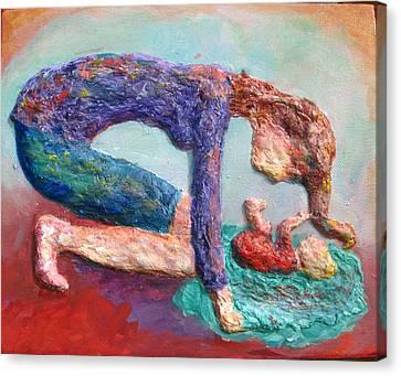 Mother Bonding Iv Canvas Print by Naomi Gerrard
