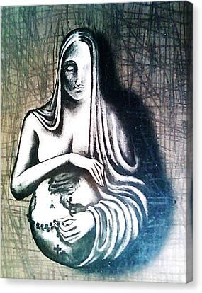 Mother Earth Canvas Print by Paulo Zerbato