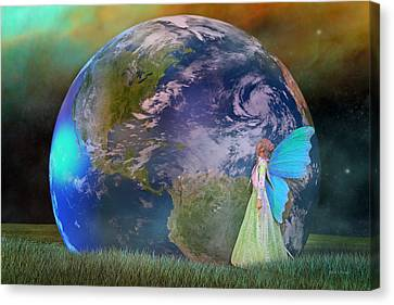 Mother Earth Series Plate3 Canvas Print by Betsy Knapp