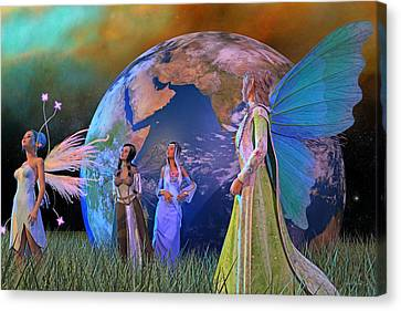 Mother Earth Series Plate5 Canvas Print by Betsy Knapp