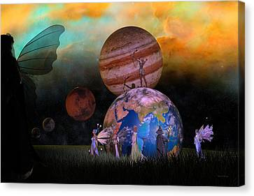 Mother Earth Series Plate6 Canvas Print by Betsy Knapp